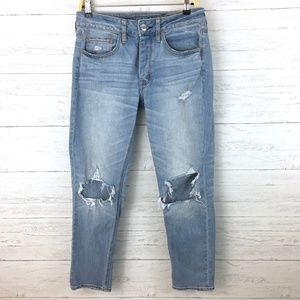 American Eagle Women's Tom Girl Distressed Jeans